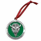 Marshall Thundering Herd Green Pewter Accent Ornaments, Set of 2