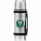 Marshall Thundering Herd Green Pewter Accent Stainless Steel Thermos
