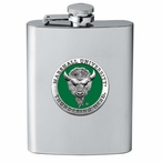 Marshall Thundering Herd Green Stainless Steel Flask w/ Pewter Accent