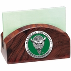 Marshall Thundering Herd Green Wood Business Card Holder with Pewter
