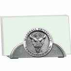 Marshall Thundering Herd Metal Business Card Holder with Pewter Accent