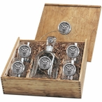 Marshall Thundering Herd Pewter Accent Capitol Decanter Box Set