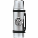 Marshall Thundering Herd Pewter Accent Stainless Steel Thermos