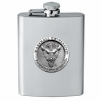 Marshall Thundering Herd Stainless Steel Flask with Pewter Accent