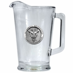 Marshall University Thundering Herd Glass Pitcher with Pewter Accent