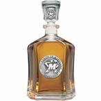 Maryland Terrapins Capitol Glass Decanter with Pewter Accents
