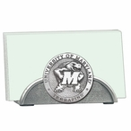 Maryland Terrapins Metal Business Card Holder with Pewter Accent