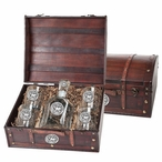 Maryland Terrapins Pewter Accent Capitol Decanter Chest Set
