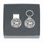 Maryland Terrapins Pewter Accent Money Clip & Key Chain Gift Set