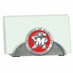 Maryland Terrapins Red Metal Business Card Holder with Pewter Accent