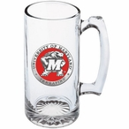 Maryland Terrapins Red Pewter Accent Glass Super Beer Mug