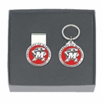 Maryland Terrapins Red Pewter Accent Money Clip & Key Chain Gift Set