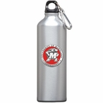 Maryland Terrapins Red Pewter Accent Stainless Steel Water Bottle