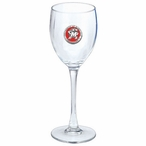 Maryland Terrapins Red Pewter Accent Wine Glass Goblets, Set of 2