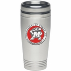 Maryland Terrapins Red Stainless Steel Travel Mug with Pewter Accent