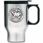 Maryland Terrapins Stainless Steel Travel Mug with Handle & Pewter