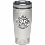 Maryland Terrapins Stainless Steel Travel Mug with Pewter Accent