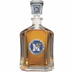 Memphis Tigers Blue Capitol Glass Decanter with Pewter Accents