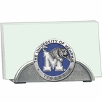 Memphis Tigers Blue Metal Business Card Holder with Pewter Accent