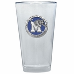 Memphis Tigers Blue Pewter Accent Pint Beer Glasses, Set of 2