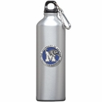 Memphis Tigers Blue Pewter Accent Stainless Steel Water Bottle