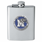 Memphis Tigers Blue Stainless Steel Flask with Pewter Accent