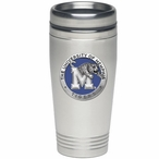 Memphis Tigers Blue Stainless Steel Travel Mug with Pewter Accent