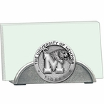 Memphis Tigers Metal Business Card Holder with Pewter Accent