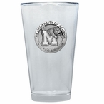 Memphis Tigers Pewter Accent Pint Beer Glasses, Set of 2