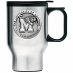Memphis Tigers Stainless Steel Travel Mug with Handle & Pewter Accent