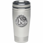 Memphis Tigers Stainless Steel Travel Mug with Pewter Accent