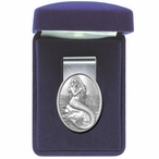 Mermaid Steel Money Clip with Pewter Accent