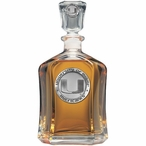 Miami Hurricanes Capitol Glass Decanter with Pewter Accents
