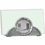 Miami Hurricanes Metal Business Card Holder with Pewter Accent