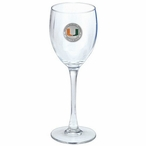 Miami Hurricanes Orange Pewter Accent Wine Glass Goblets, Set of 2