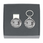 Miami Hurricanes Pewter Accent Money Clip & Key Chain Gift Set