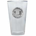 Miami Hurricanes Pewter Accent Pint Beer Glasses, Set of 2