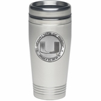 Miami Hurricanes Stainless Steel Travel Mug with Pewter Accent
