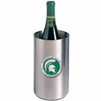 Michigan State Green Pewter Stainless Steel Wine Bottle Chiller