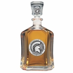 Michigan State Spartans Capitol Glass Decanter with Pewter Accents