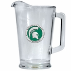 Michigan State Spartans Green Glass Pitcher with Pewter Accent