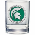 Michigan State Spartans Green Pewter Accent DOF Glasses, Set of 2