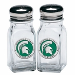 Michigan State Spartans Green Pewter Accent Salt & Pepper Shakers