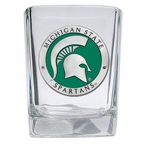 Michigan State Spartans Green Pewter Accent Shot Glasses, Set of 4