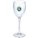 Michigan State Spartans Green Pewter Wine Glass Goblets, Set of 2