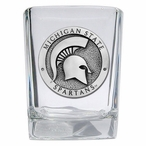 Michigan State Spartans Pewter Accent Shot Glasses, Set of 4