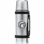 Michigan State Spartans Pewter Accent Stainless Steel Thermos