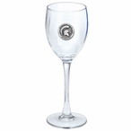 Michigan State Spartans Pewter Accent Wine Glass Goblets, Set of 2