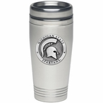 Michigan State Spartans Stainless Steel Travel Mug with Pewter Accent