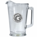 Michigan State University Spartans Glass Pitcher with Pewter Accent